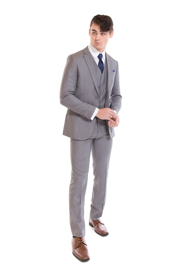 Picture of David Major Select Light Grey Modern Fit Suit