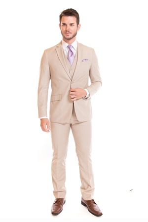 Picture of David Major Select Tan Modern Fit Suit